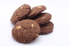 De Donkere chocoladekoekjes Royalty-vrije Stock Afbeeldingen