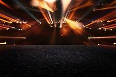 de donkere concentraat of asfaltvloer met donkere zwarte schittert achtergrond Royalty-vrije Stock Afbeelding