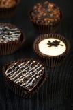 De donkere dag van chocoladevalentijnskaarten Royalty-vrije Stock Foto