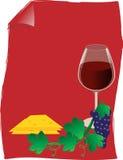 De donkere druiven met doorbladert Stock Afbeelding