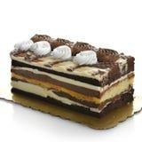 De donkere en Witte Cake van de Chocolade Royalty-vrije Stock Afbeelding