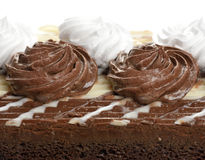 De donkere en Witte Cake van de Chocolade Stock Afbeelding