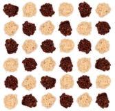De donkere en witte chocolade van de amandeltruffel Stock Fotografie