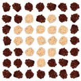 De donkere en witte chocolade van de amandeltruffel Stock Foto