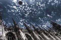 De donkere foto van HDR van de beroemde Kathedraal Duomo Royalty-vrije Stock Afbeeldingen