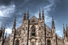 De donkere foto van HDR van de beroemde Kathedraal Duomo Stock Afbeelding
