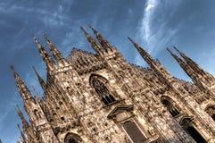 De donkere foto van HDR van de beroemde Kathedraal Duomo Stock Afbeeldingen