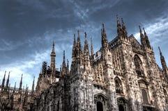 De donkere foto van HDR van de beroemde Kathedraal Duomo Royalty-vrije Stock Afbeelding