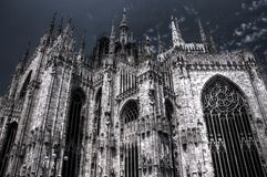 De donkere foto van HDR van de beroemde Kathedraal Duomo Royalty-vrije Stock Foto