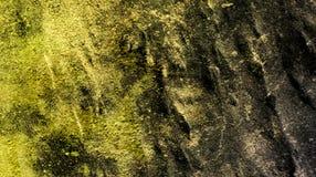 De donkere gele duistere groene gevolgen van het kleurenmengsel vatten geweven achtergrondbehang vectorillustratie samen vector illustratie