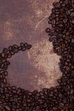 De donkere Geroosterde Bonen van de Koffie Stock Afbeelding