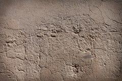 De donkere gescherpte achtergrond van de pleister concrete textuur Stock Foto's