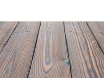 De donkere geweven houten die achtergrond van het plankenperspectief op w wordt geïsoleerd Royalty-vrije Stock Afbeeldingen