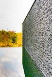 De donkere grijze bakstenen muur van de steentegel Royalty-vrije Stock Afbeelding