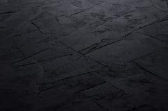 De donkere grijze muur van de grunge ruwe concrete textuur Royalty-vrije Stock Afbeeldingen