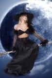De donkere Halloween heks Royalty-vrije Stock Afbeelding