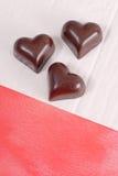 De donkere Harten van de Chocolade Stock Afbeeldingen