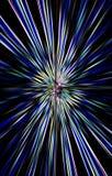 De donkere heldere achtergrond van kleurenstrepen divergeert van het midden aan de randen Royalty-vrije Stock Afbeelding