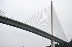De donkere hemel van Bai Chay Bridge Stock Fotografie
