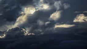 De donkere hemel van de volle maannacht Royalty-vrije Stock Afbeelding