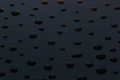 De donkere het gloeien dalingen De textuur Stock Afbeelding