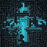 De donkere hoogste mening van het draadlabyrint vector illustratie
