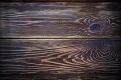 De donkere houten achtergrond met platte kop van de lijstmening Royalty-vrije Stock Foto's