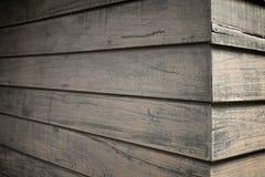 De donkere houten mening van het textuurperspectief Royalty-vrije Stock Foto's