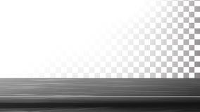 De donkere Houten Vector van de Lijstbovenkant Lege Tribune voor Vertoning Uw Producten Geïsoleerd op transparante achtergrond vector illustratie