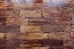 De donkere houten vloertextuur, kan als achtergrond worden gebruikt Stock Afbeelding