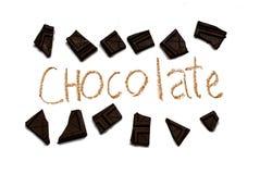 De donkere inzameling van Chocoladebrokken Royalty-vrije Stock Fotografie