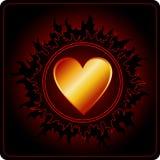 De donkere Kaart van de Dag van Valentijnskaarten royalty-vrije illustratie