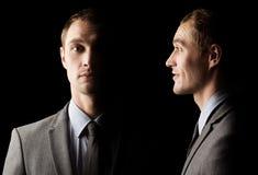 De donkere kant van mens. Psychologisch portret Royalty-vrije Stock Fotografie