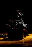 De donkere kant van muziek Stock Foto's