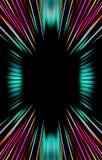 De donkere kleurrijke achtergrond van strepen divergeert van het midden aan de randen Stock Afbeeldingen