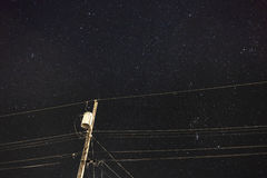 De donkere Lijn van de Hemeltransmissie Royalty-vrije Stock Foto's