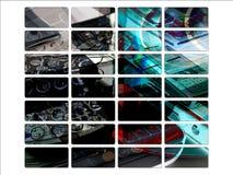 De donkere Mobiele Knopen van de Plaats van de Interface van het Web PDA Royalty-vrije Stock Fotografie