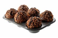 De donkere Muffins van de Chocolade Royalty-vrije Stock Fotografie