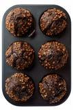 De donkere Muffins van de Chocolade Stock Afbeeldingen