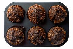 De donkere Muffins van de Chocolade Stock Foto