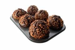 De donkere Muffins van de Chocolade Royalty-vrije Stock Foto