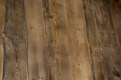 De donkere muur van houtsnedeplanken Royalty-vrije Stock Fotografie
