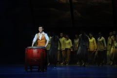 De donkere nachtslagwerker - De derde handeling van de gebeurtenissen van dans drama-Shawan van het verleden Royalty-vrije Stock Afbeeldingen