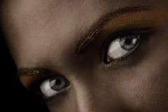 De donkere ogen sluiten omhoog Royalty-vrije Stock Afbeeldingen