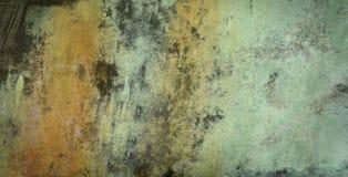 De donkere oude textuur van het bronsblad Stock Foto