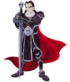 De donkere ridder Stock Afbeeldingen
