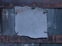 De donkere roestige achtergrond van het grungekader Stock Afbeelding