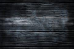 De donkere rokerige houten ruimte van de grensmuur eith voor tekst Stock Fotografie