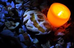 De donkere scène van Halloween Royalty-vrije Stock Foto