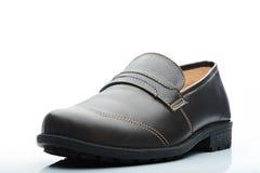 De donkere schoen van leer toevallige mensen Stock Fotografie